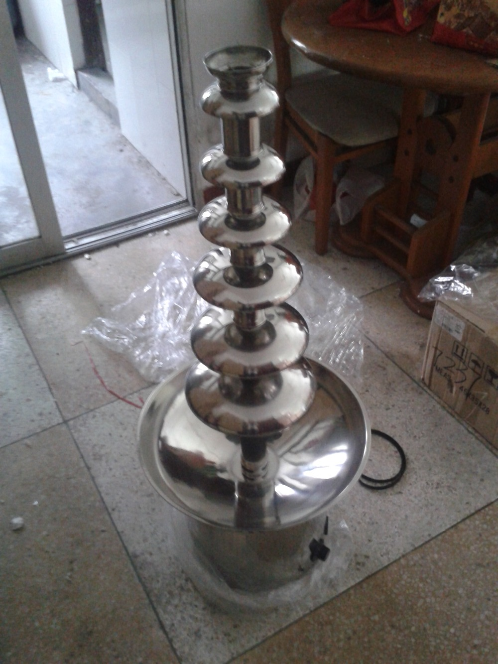 Free Shipping 110V 220V 7 Tiers Commercial Chocolate Fountain Machine 1050Mm high fast shipping food machine 6 layers chocolate fountains commercial chocolate waterfall machine with full stainless steel