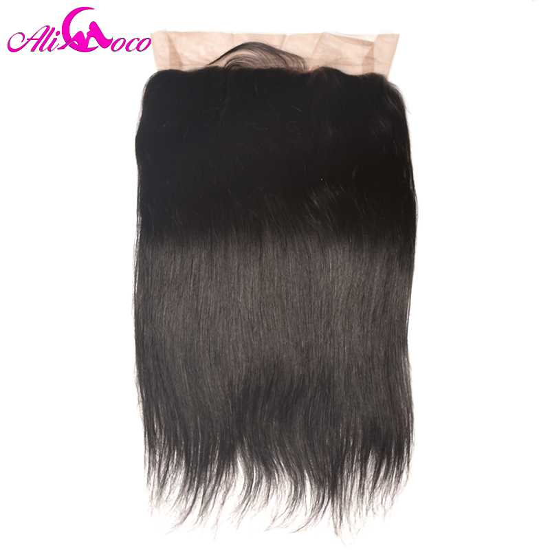 Ali Coco Brazilian Straight Hair 360 Lace Frontal Closure With Baby Hair 100% Human Hair Free Part Non-remy Hair Free Shipping