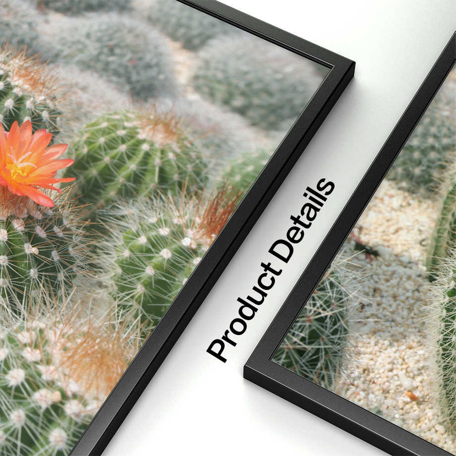 COLORFULBOY Cactus Quotes Wall Art Canvas Painting Nordic Landscape Posters  And Prints Wall Pictures For Living Room Decoration