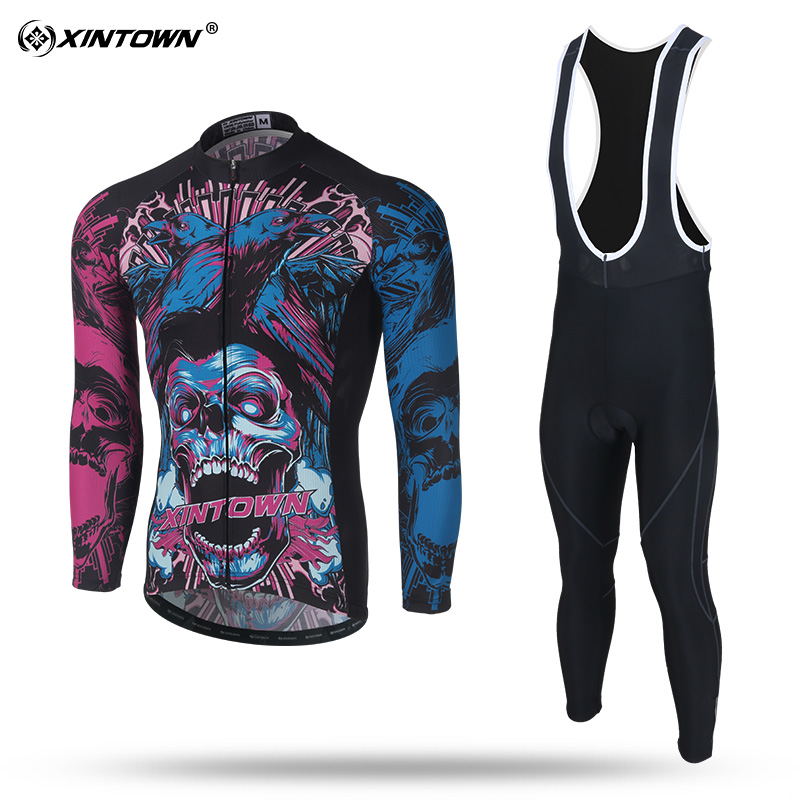 XINTOWN Cycling Suit Clothing 2018 Winter Thermal Cycling Jersey Set Racing MTB Maillot Rock Racing Bike Clothing Ropa Ciclismo fualrny 2018 winter fleeced thermal cycling clothing set racing bike sportswear maillot ropa ciclismo invierno bicycle jersey