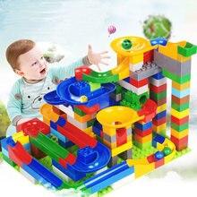 Büyük boy yapı taşları mermer yarış çalıştırmak labirent topu bina inşaat oyuncakları eğitici oyuncak çocuklar için