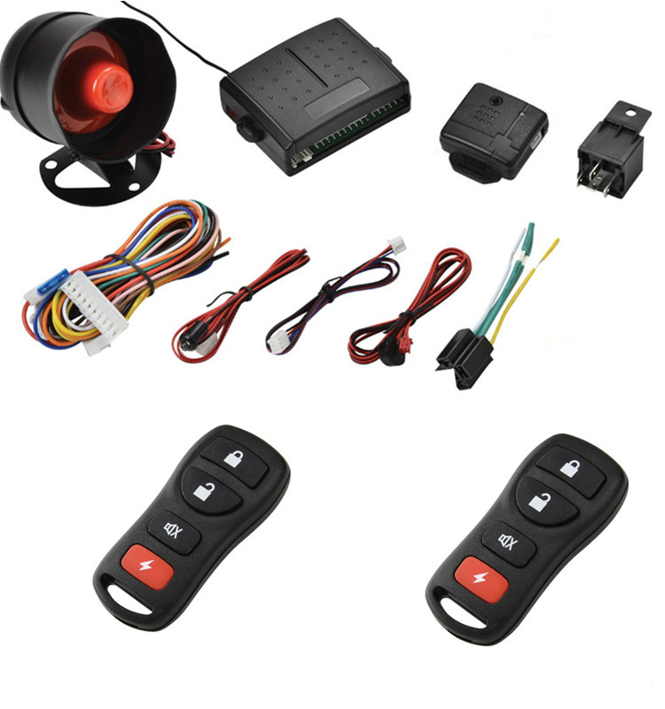 PKE Car Alarm System With Lgnition Start Stop Feature Remote Engine Start Stop Auto Central Lock Keyless Entry System For Peugeo