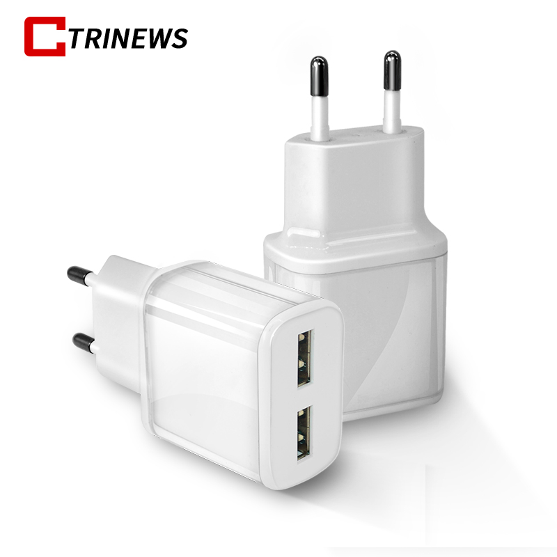 Smart Travel USB Charger Adapter For iPhone X 8 7 6 Portable EU Plug Wall Charger For Samsung S9 S8 Tablet Mobile Phone Chargers