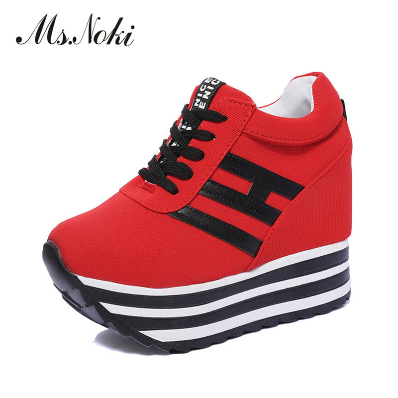 Ms. Noki wedge lace-up platform causal good quality women shoes Summer 2017 fashion casual shoes leisure for girls