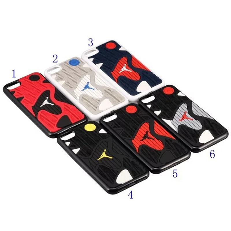 3D Air Jordan подошва ТПУ + Резина чехол для iphone 8, AJ Jumpman задняя крышка корпуса, мобильный Телефонные Чехлы для iPhone 7 Бесплатная доставка