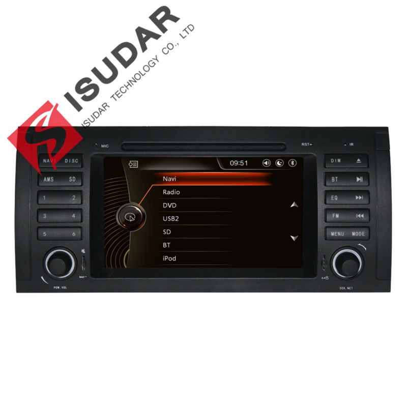 Isudar Car Multimedia Player GPS For BMW/E39/X5/M5/E53 Canbus Radio Capacitive Touch Screen Rear View Camera Microphone isudar car multimedia player gps for bmw e46 m3 mg zt rover 75 canbus radio capacitive touch screen dvd player bluetooth ipod