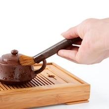 1 шт., эбеновая деревянная щетка, ручка для чая и чая, кунг-фу, поднос для чая, ручка для мытья, аксессуары для чая, щетка для чистки чайного горшка, ручка для мытья