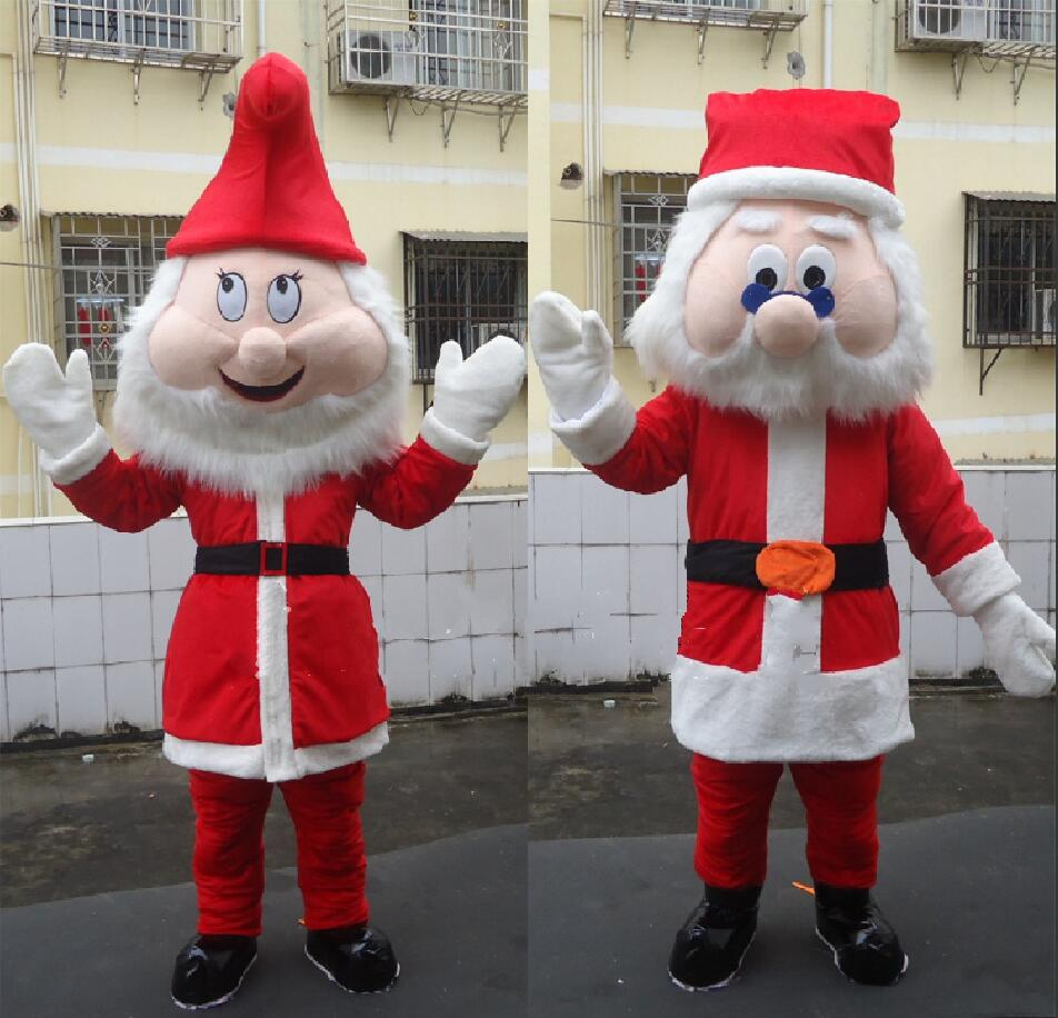 Santa Claus Mascot Costume Christmas Fancy Dress Outfit Suit Cospaly Party Dress cartoon character mascot costume