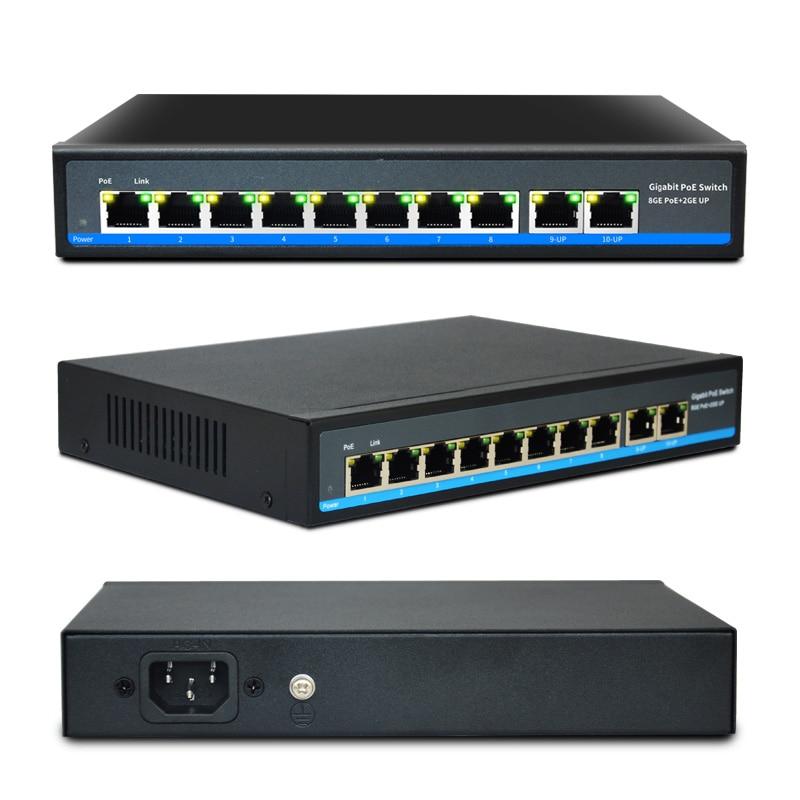 SZSSCEE Gigabit 10 port commutateur poe soutien Ieee802.3af/à caméras ip et point d'accès sans fil 10/100/1000 Mbps standard interrupteur réseau - 2