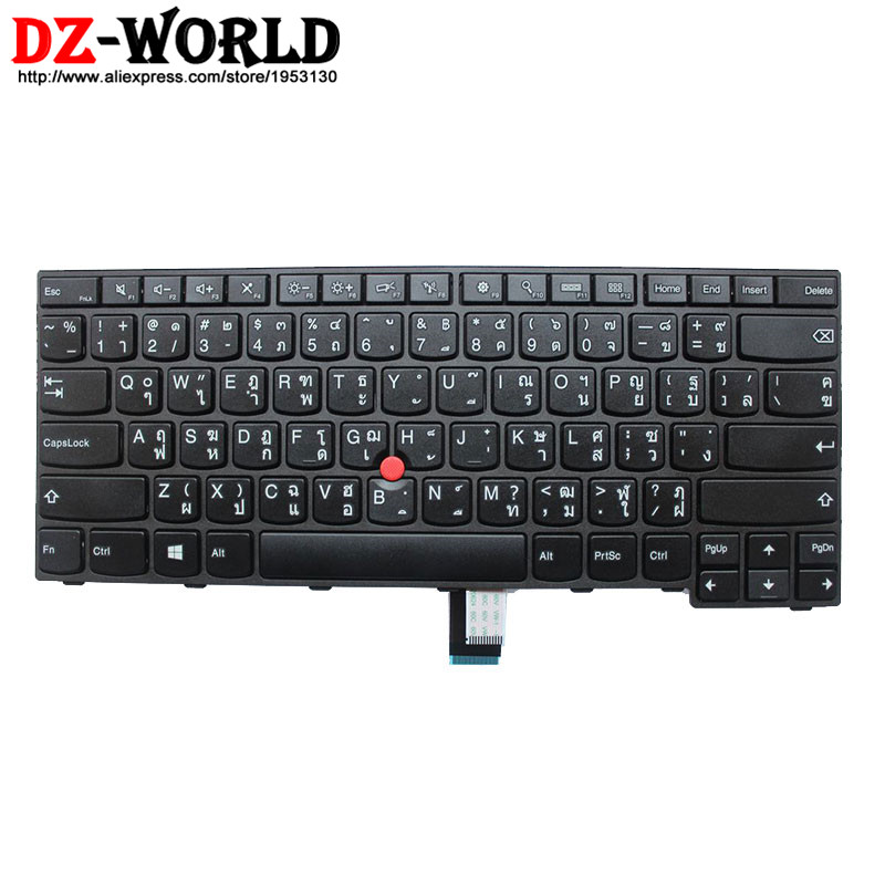 New Original for Lenovo Thinkpad E450 E450C E455 E460 E465 Keyboard Teclado TH Thai Layout 04X6135 04X6175 SN20E66135 11 3v 47wh new original laptop battery for lenovo 45n1754 45n1755 45n1756 45n1757 e450 e455 e450c series