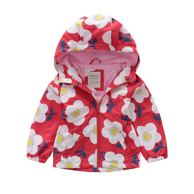 62fa19f71 MEANBEAR Europe America Girls Jacket Fleece Lining Hooded Outerwear ...