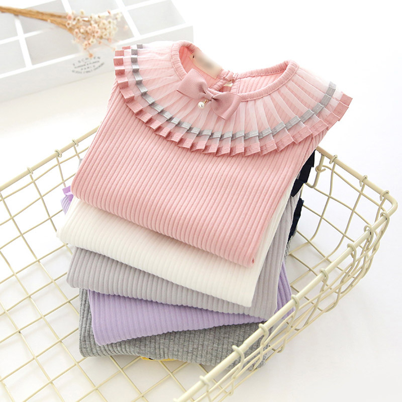New spring autumn girls T-shirt blouse long sleeve children clothing