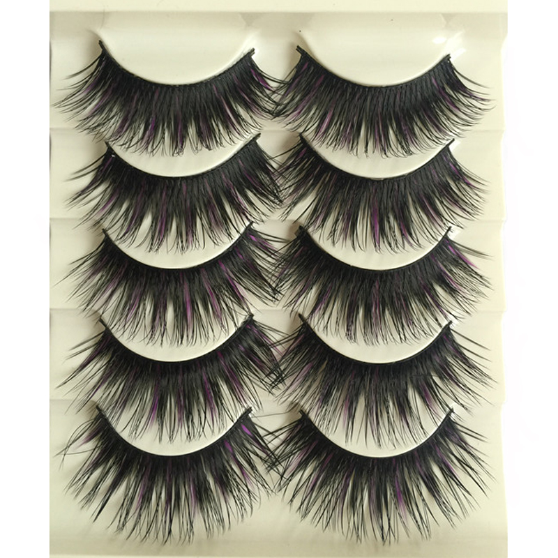 5pair Halloween Party Professional Make Up False Eyelashes Beauty