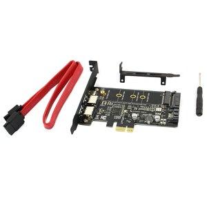 Image 3 - Двойной USB3.0 1 порт Type c M.2 PCIe адаптер M2 SSD SATA B Ключ к PCI e 3,0 Контроллер конвертер карта для NGFF 2280 2260 2242 2230