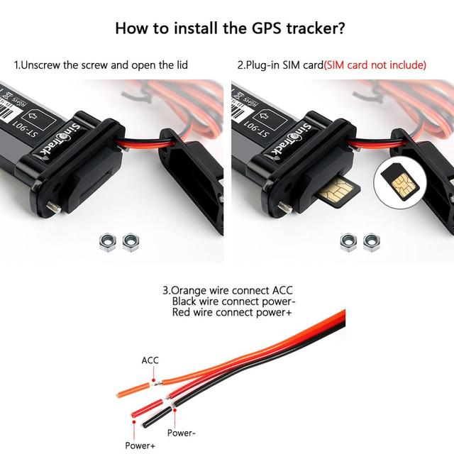 Mini Waterproof Builtin Battery GSM GPS tracker 3G WCDMA device ST-901 for Car Motorcycle Vehicle Remote Control Free Web APP 3