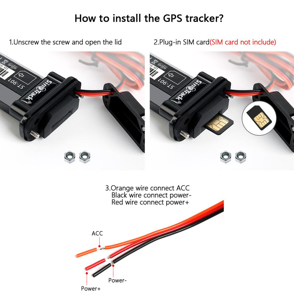 Image 3 - Mini Waterproof Builtin Battery GSM GPS tracker ST 901 for Car motorcycle vehicle 3G WCDMA device with online tracking software-in GPS Trackers from Automobiles & Motorcycles