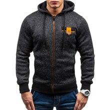 2019 New Brand Men Sets Winter Autumn Sweatshirt Male Fight Color Hooded Zipper Long Sleeve Men Hoodies Outwear M-3XL