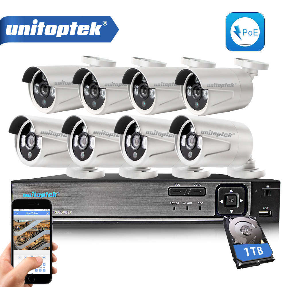 8CH 720P POE IP Camera CCTV Kit 8CH POE 48V POE NVR With 8Pcs 1.0MP IP Cam Outdoor Network Video Surveillance Camera System tr sipr130w poe outdoor 1 3 megapixel ip serveillance camera with poe tr sipr130 poe