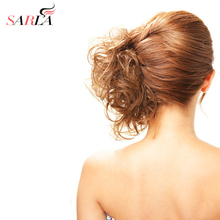 SARLA 1PC Synthetic High Temperature Fiber Hair Ties Curly Scrunchie Hair Bang Ponytail Multi-way Updo hair Accessories H01