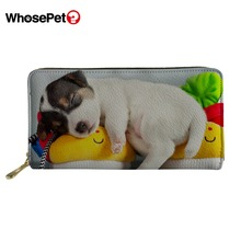 WHOSEPET Fashion Design Women Purse Girls Brand Zipper Teenager Leather Coin Holder Cute Animal Money Messenger Pocket NEW