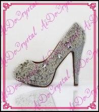 Aidocrystal Sexy Runde Kappe Schuhe Frau High Heel 14 cm Hohe Frauen High Heels weiße hochzeit Pumps Strass Schuhe