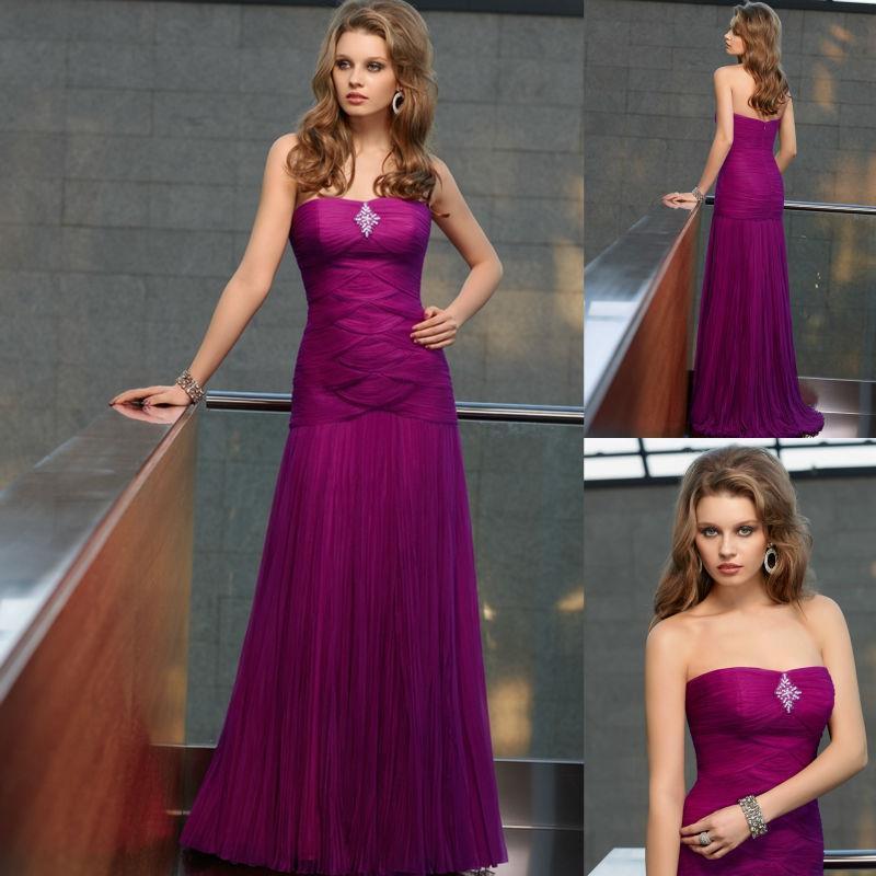 Traje de baile personalizada vestidos para invitados de boda púrpura ...