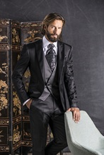 Latest Coat Pant Designs Black Italian Formal Men Suit Slim Fit Lighting Prom Blazer Custom Gentle Suits 3 Piece Terno Homme L89
