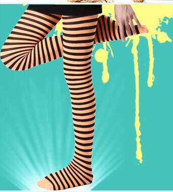 Street Fashion Zebra Stripes Pantyhose Milk Silk 70D Zebra Pantyhose Tights Legwear