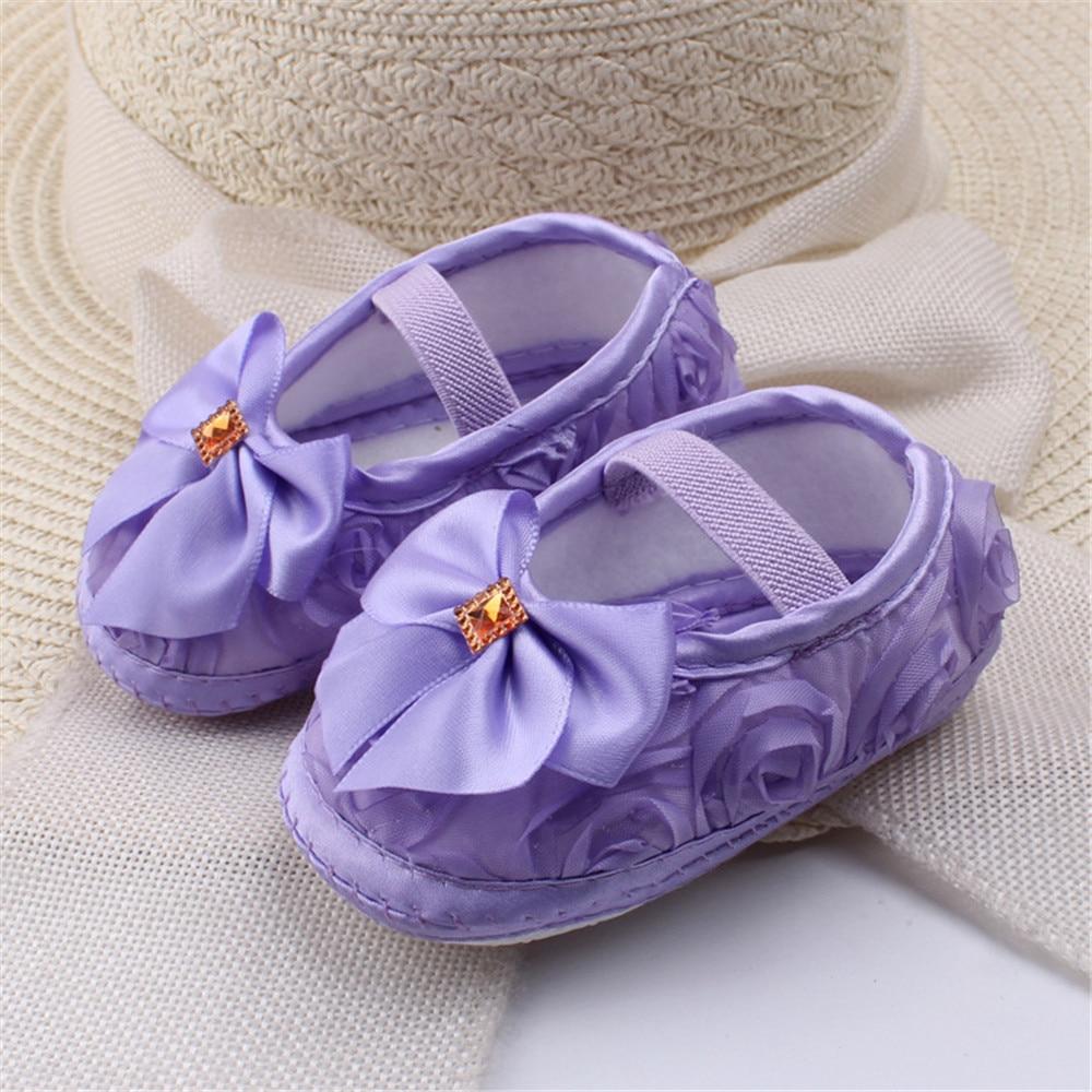 Nuostabus 0-12 mėn. Kūdikių mergaičių lovelės batai Cute Princess Shoes Medvilniniai Baby Soft Sole Frist Walker (s7-102)