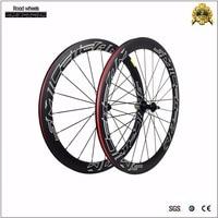 Smileteam 3 K Full Carbon Road Bike wheels 700c Carbon Racing Xe Đạp Bánh Xe 50 mét Móc Sắt Xe Đạp Bánh Xe Đường 9/10/11 Tốc Đ