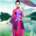 Китайский Национальный Костюм Танец Dress Женщины Yangko Танец Одежды Женский Современный Классический Вентилятор Танец Зонтик Танец Износ Этапа 89