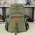 High quality canvas men's women's backpack college student school book bag travel leisure bag shoulder bag