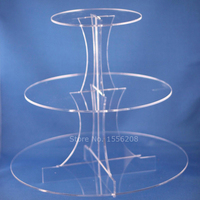 Practical Round Acrylic Display 1PC Cupcakes Stand Desserts Stand Tree Tower Serving Platter For Wedding Holiday Christmas