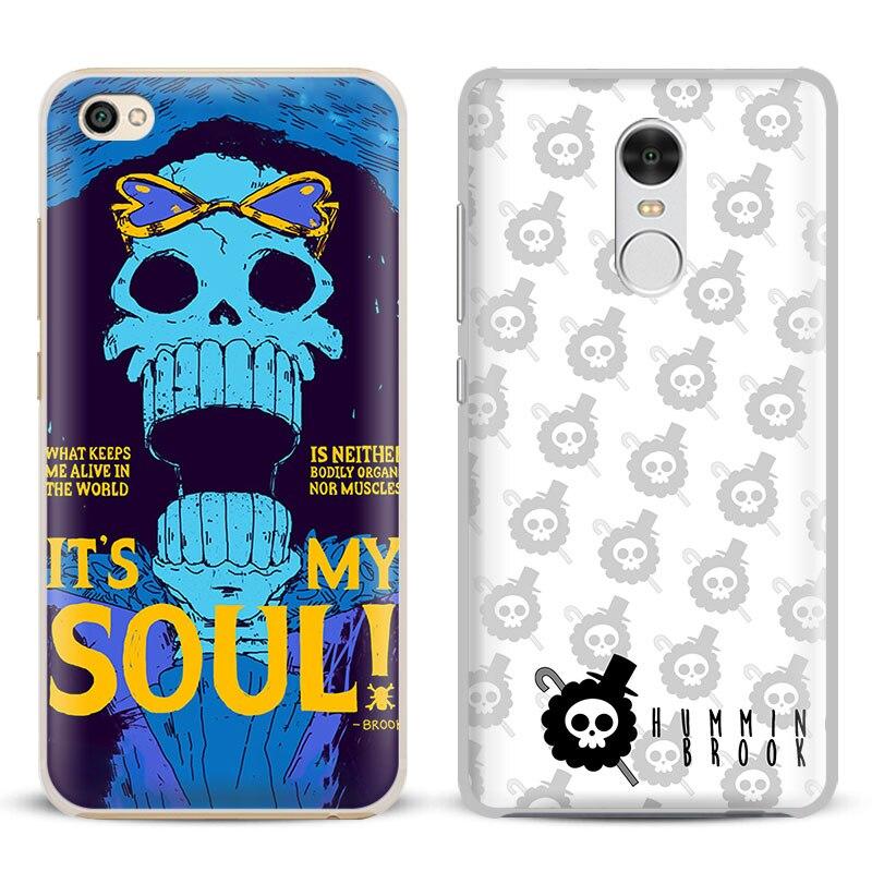 One Piece Brook Anime Coque Phone Case Shell Cover For Xiaomi Redmi Note 2 3 4 4X 5A Pro Mi 4 5 5S Plus 5X 6 MiA1 Minote 2 3