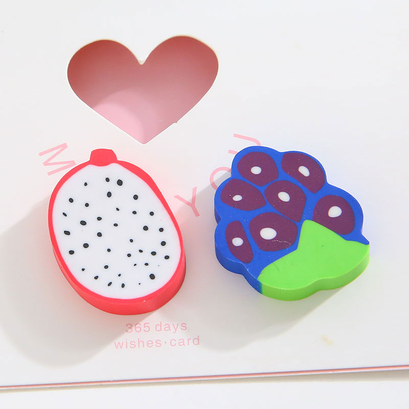 2 PC bag creative cartoon stationery and lovely fruit eraser learn office The school supplies free shipping in Eraser from Office School Supplies
