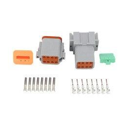 DT04 8P/DT06 8S polski złącza 8 Pin motor przewód wodoodporny elektryczne męski żeński złącze wtykowe 22 16AWG DJ3081Y 1.6 w Złącza od Lampy i oświetlenie na