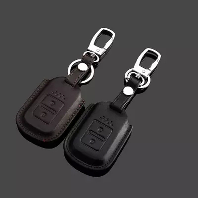 Key Rings For Car Honda CRV Crosstour Jade Genuine Leather 3D Effect Free Shipping