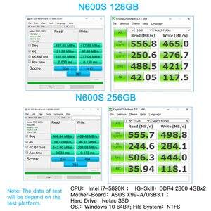 Image 3 - Netac N600S SSD 720 GB 1 TB SATA 3 HD SSD Đĩa Cứng 720 GB 1 TB Bên Trong Chắc Chắn Ổ Cứng 128 256 512 GB Cho Máy Tính Để Bàn