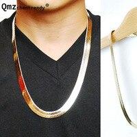 Neue Breite Gold Gefüllt Galvani männer Drachen Ketten Halskette Hip Hop Bling frauen T-zeigen Fisch Schlange knochen Halskette Schmuck