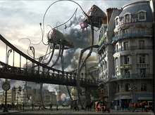 War of the Worlds Steampunk Tripods Art Huge Print Poster TXHOME D7138