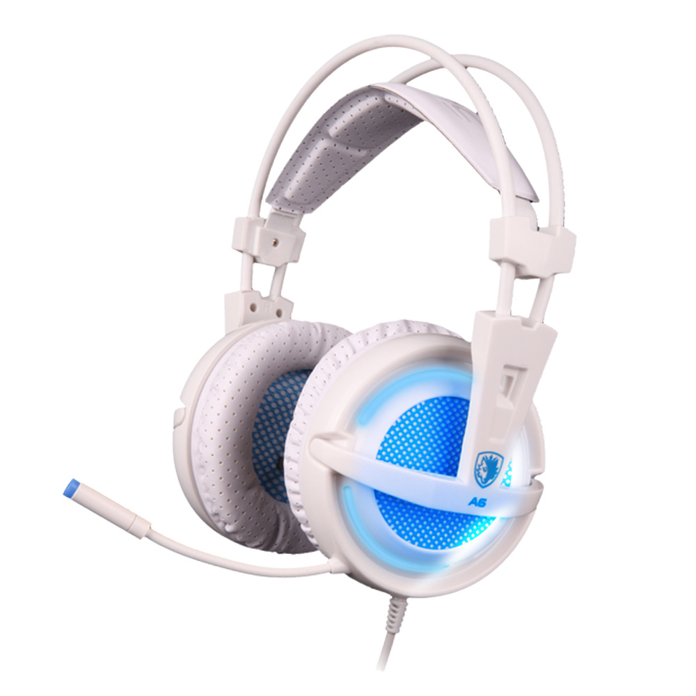 SADES A6 USB 7.1 Stereo wired gaming headphones game headset over ear with mic Voice control for laptop computer gamer 17