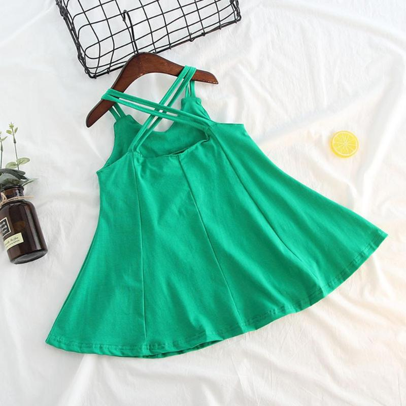 Korean Style Fashion Design Girls Kids Princess Dress Summer Dress Baby Girls Sling Strap A-Line Princess Kids Holiday Vestidos
