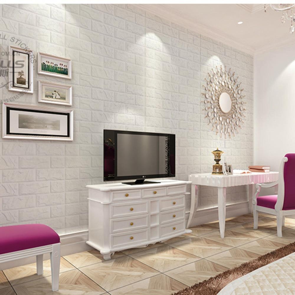 2018 New White 3d Modern Design Brick Wallpaper Roll Vinyl Wall