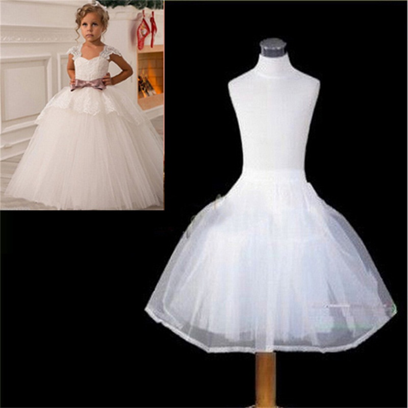 Brand New Children Petticoats For Flower Girl Dress Formal Wedding Bride Accessories Girls Kids White Long Crinoline Underskirt