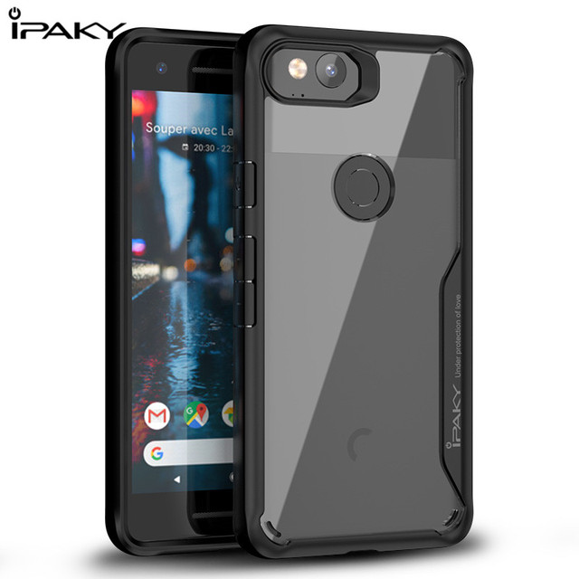low priced c514a 215f9 US $6.83 |iPaky For Google Pixel 2 XL Case Cover TPU Bumper + Hard PC Cover  For Google Pixel XL2 Case Protective Shield Clear Shockproof-in Fitted ...