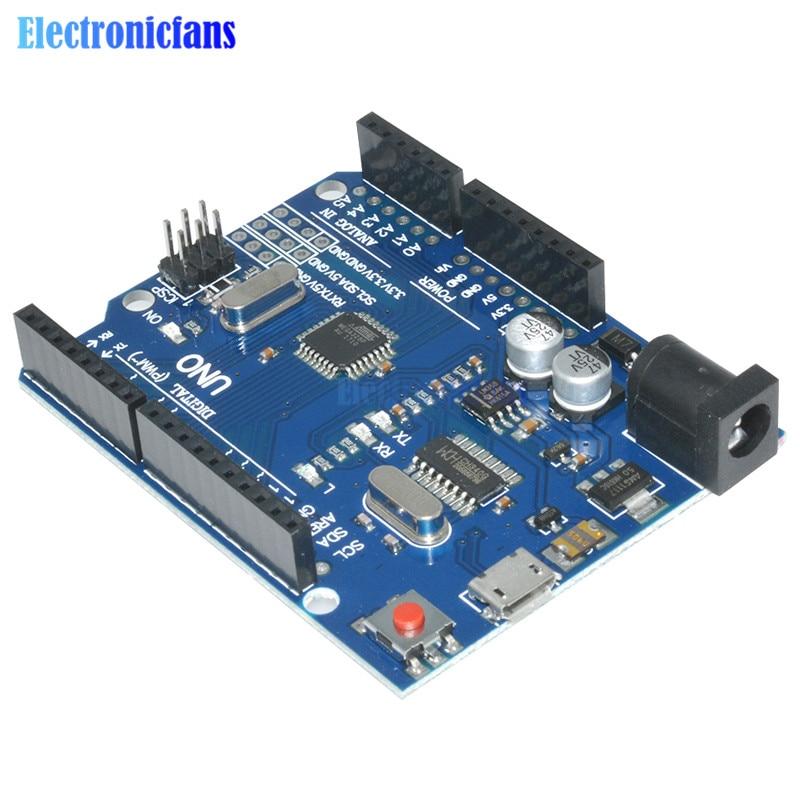 UNO R3 Latest Version ATMEGA328P-16AU CH340G Micro USB And Cable