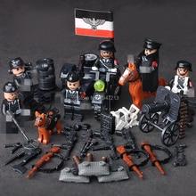 kompatibilis LegoINGlys katonai német hadsereg Különleges trooper lovas építőelemek Nehéz géppuska A fegyverek számai tégla játékok
