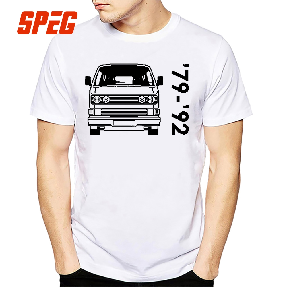 Tee Shirts Men's Type 2 T3 Bus Car Man O Neck Short Sleeve T Shirts Create Men's Funny Round Neck T-Shirts 100% Cotton 4XL 5XL