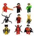 Marvel DC comics super heroes Venom building block Дэдпул Локи Вспышки Shazam Робин Nightwing совместимость с legoe игрушки