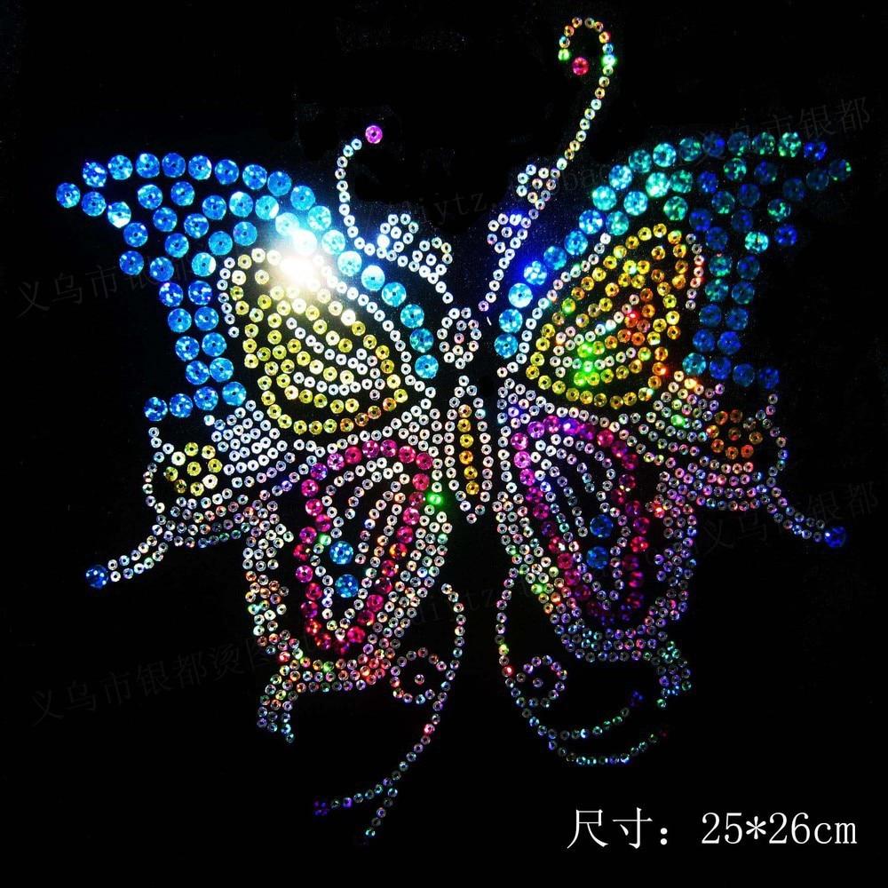 Motif Strass Petits Papillons hotfix